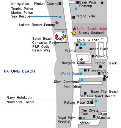 Safari Beach Hotel Address 136 Thaweewong Road Patong Kathu Et Thailand 83150